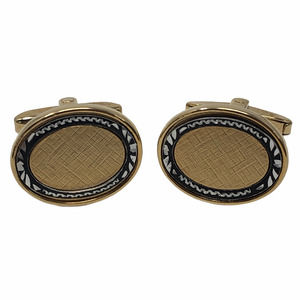 Foster Men's French Cuff Links Gold Toned